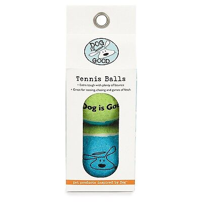 Dog Is Good Tennis Balls for Dogs 2-Pack Boxes New