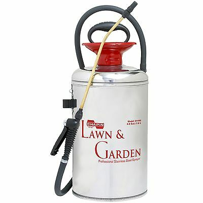 Chapin 31440 Yard and Garden Stainless Steel Plus Sprayer 2-Gallon New