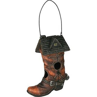 Rivers Edge Products Cowboy Boot Birdhouse New