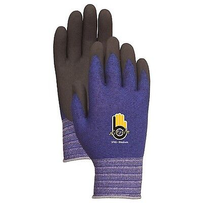 Lfs Glove Bellingham C3705XL Pied Yarn Nitrile Palm Blue Extra Large New