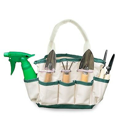GardenHOME Indoor 7-Piece Stainless Steel Garden Tool with Garden Tote Se... New