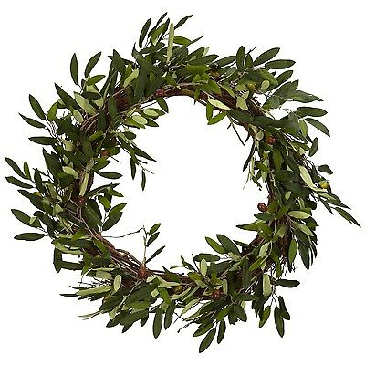 Nearly Natural 4773 Olive Wreath 20-Inch Green New
