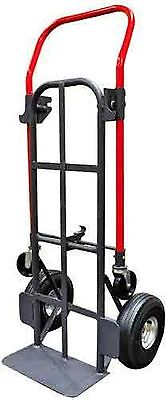 "Milwaukee Hand Trucks 49478 Quick-Latch Convertible Truck with 10"" Pneuma... New"