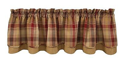 Park Designs Hearthside Lined Layer Valance 72 X 16-Inch New
