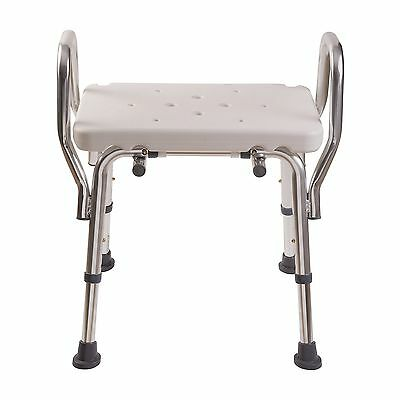 DMI Heavy Duty Bath and Shower Chair with Arms Adjustable Legs and No-Too... New
