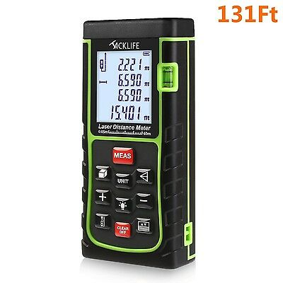 Tacklife 131 Feet Laser Distance Measure with Single Distance & Continuou... New