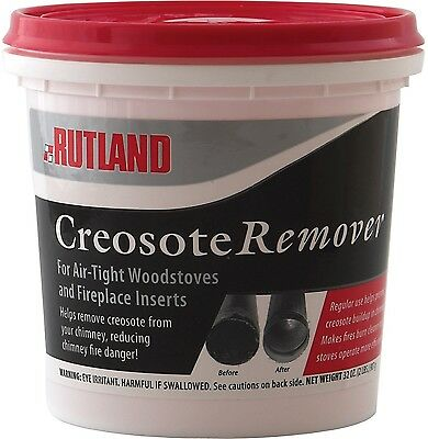 Rutland Dry Creosote Remover Chimney Treatment 2-Pound New