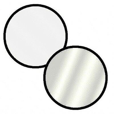 """Impact Collapsible Circular Reflector Disc - Silver/White - 32"""" New"""