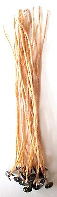 Organic Beeswax Candle Wicks with Tabs Pre-waxed 8 inch 20 Count New