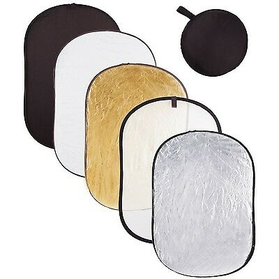 Signstek 5-in-1 24 inch x 36 inch Collapsible Multi Disc Light Reflector ... New