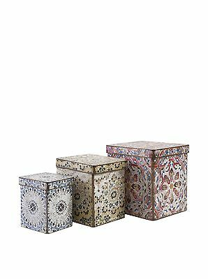 IMAX 56395-3 Victoria Artsy Boxes Multicolored New