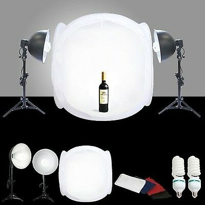 CanadianStudio STUDIO IN A BOX PHOTO LIGHT TENT PHOTOGRAPHY SET 1000W out... New