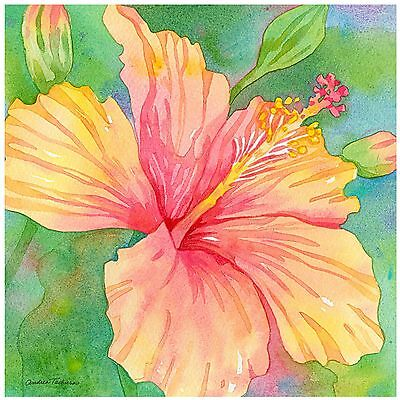 Thirstystone Occasions Trivet Hibiscus Garden Multicolor New