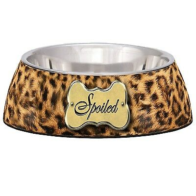 Loving Pets Spoiled Leopard Milano Bowl for Dogs and Cats Small New