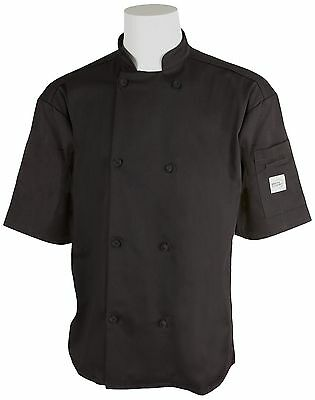 Mercer Culinary M61022BKS Genesis Unisex Short Sleeve Chef Jacket with Cl... New