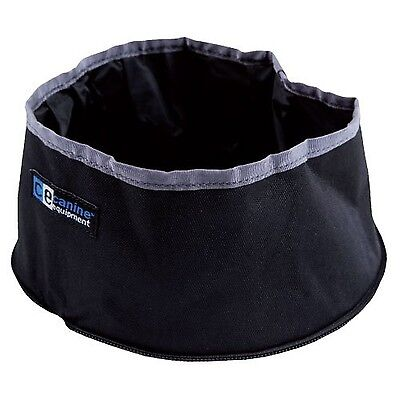 Canine Equipment Packable Dog Water Bowl Black New