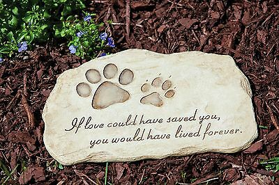 Outdoor Decor-Pet Devotion Garden Stone New