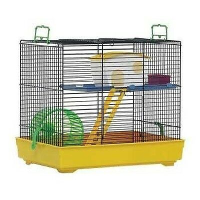 Marchioro Lux 2 Cage for Small Animals 16-Inch Yellow/White New