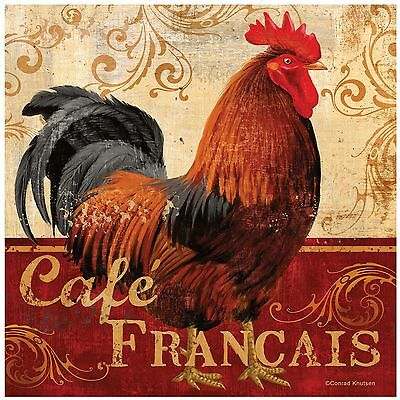 Thirstystone Occasions Trivet Cafe Francais Rooster Multicolor New