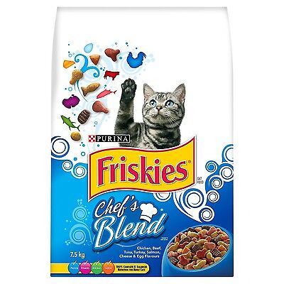 Purina Friskies Chefs Blend Dry Cat Food 7.5kg New