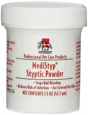 Top Performance Medistyp Pet Styptic Powder with Benzocaine 1-1/2-Ounce New