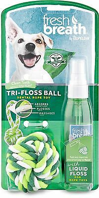 COSMOS Tropiclean Fresh Breath Plaque Remover Pet LiquidFloss and TriFlos... New