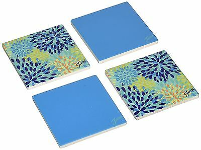 Thirstystone Occasions Stoneware Drink Coasters Fiesta Cool Calypso Trivet New