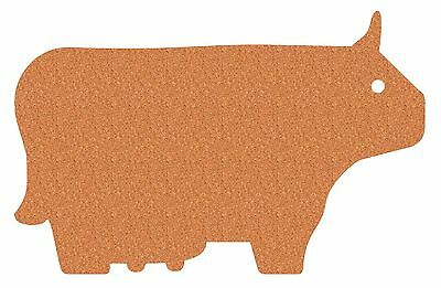 Cork Nature 490417 Korko Farm Collection Trivets Cow New