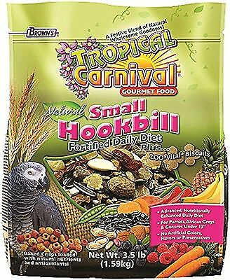 F.M. Brown Tropical Carnival Natural Small Hookbill Food 3.5-Pound Package New