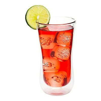 Restaurantware 10 Count Forma Double Wall Beverage Glass Box 10-Ounce Clear New