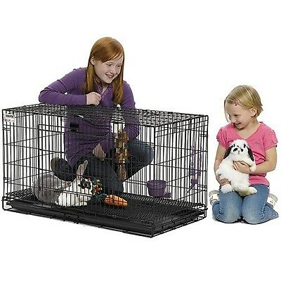 Midwest Wabbitat Folding Rabbit Cage 37-Inch x 19-Inch x 20-Inch New