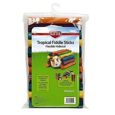 Kaytee Guinea Pig Tropical Fiddle Sticks Hideout Medium New