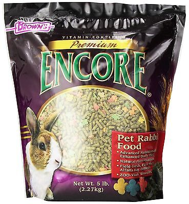F.M. Brown Encore Rabbit Food 5-Pound New