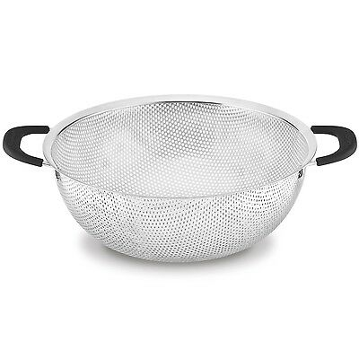 CUISINART 5 Quarts Stainless Steel Hard Mesh Colander CTG-00-CLDC Silver New