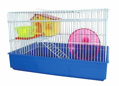 YML H810BL H810 2 Level Hamster Cage Blue yellow New