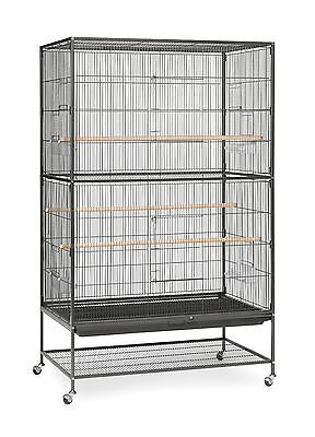 Prevue Hendryx Pet Products Wrought Iron Flight Cage Large Hammertone Black New