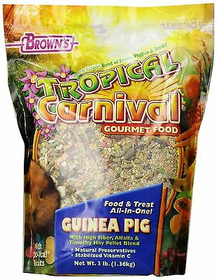 F.M. Brown Tropical Carnival Guinea Pig Food 3-Pound New