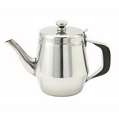 Winco JB2932 Gooseneck Teapot 32-Ounce Stainless Steel New