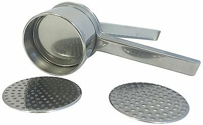 Eppicotispai Stainless Steel Potato Masher/Ricer with 2 Inserts New