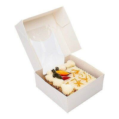Restaurantware Cafe Vision Square White Take Out Container with Window (2... New