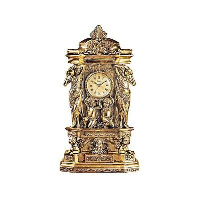 Design Toscano Chateau Chambord Clock in Antique Faux Gold New