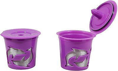 2 Pack Purple Coffee Filter for Keurig 2.0 & 1.0  Basket Reusable K-Cup C... New