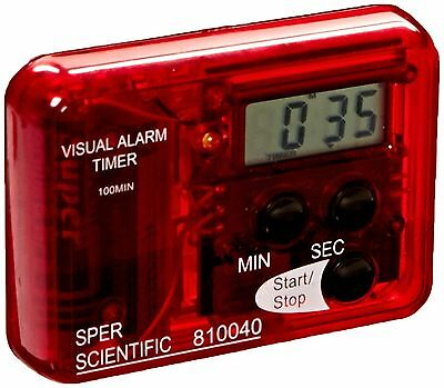 Sper Scientific 810040 Compact Visual and Audible Alarm Timer New