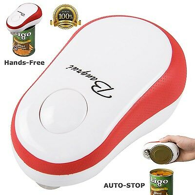 BangRui Smooth Edge Electric Can Opener--One Button Start & Auto-Stop(Red... New