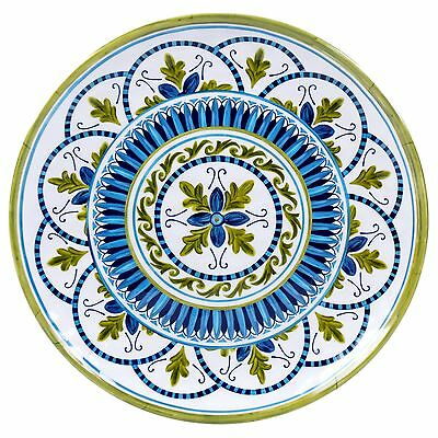 Certified International Corp Blue Grotto Melamine Round Platter 14-Inch M... New