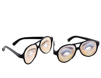CCLI Women Men Disguise Glasses Toy With Funny Eyes Pack of 2 New
