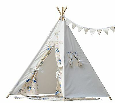 Teepee kid teepee Iloveteepee flower fairy teepee with poles flags mat an... New