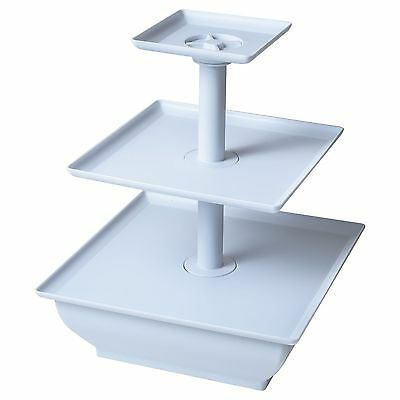 Chef Buddy 3-Tier Cupcake Dessert Stand White New