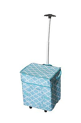dbest products Smart Cart Moroccan Tile Rolling Multipurpose Collapsible ... New
