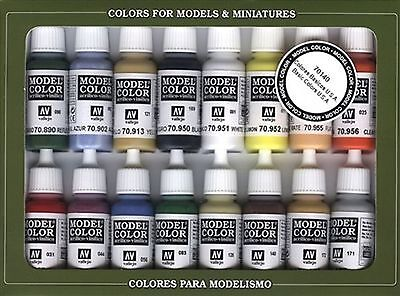 Vallejo Basic USA Colors Paint Set 17ml New
